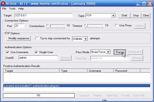 Example of a bruteforce software Brutus BestCryptEx